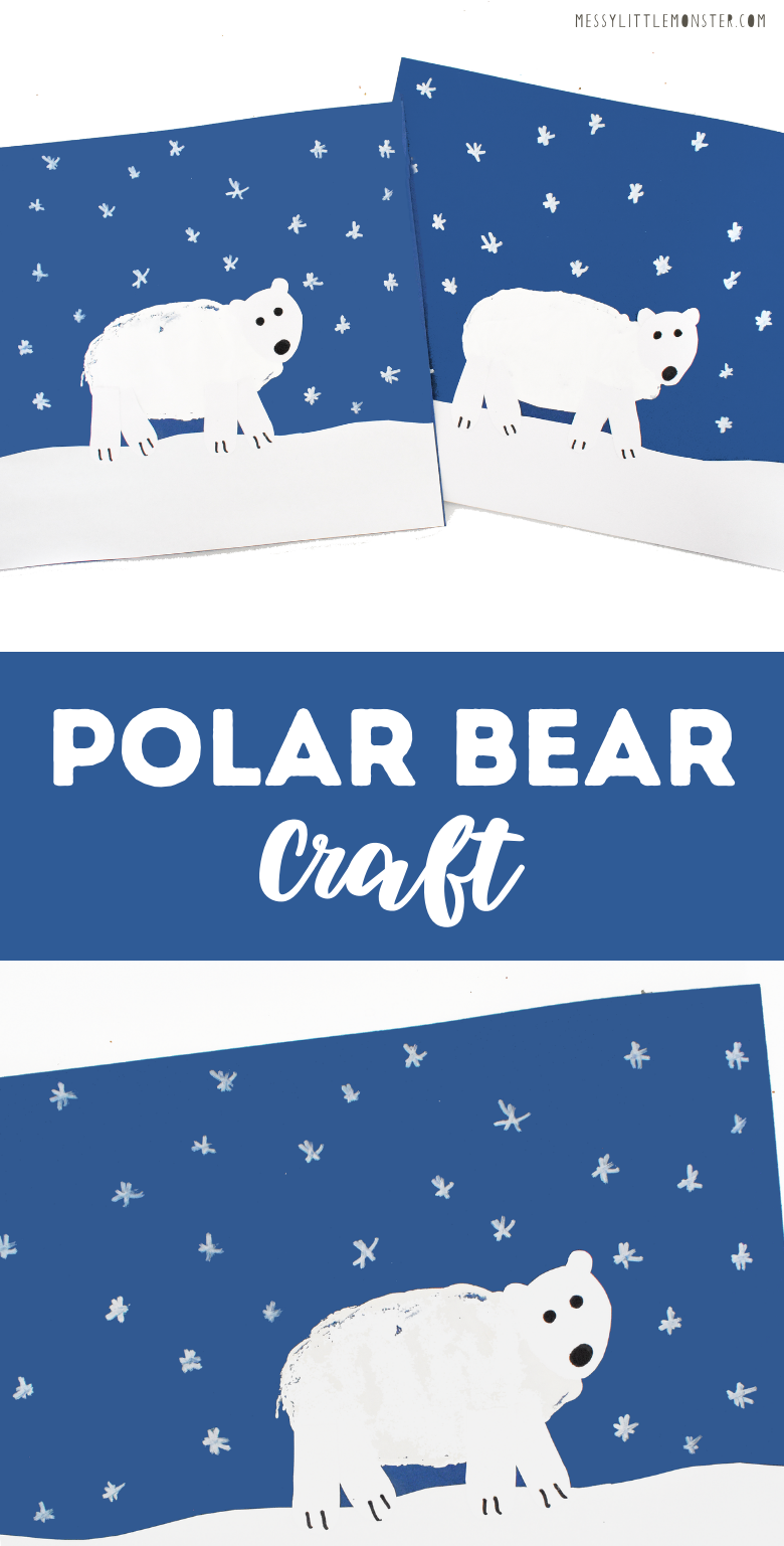 Polar bear craft for kids with template