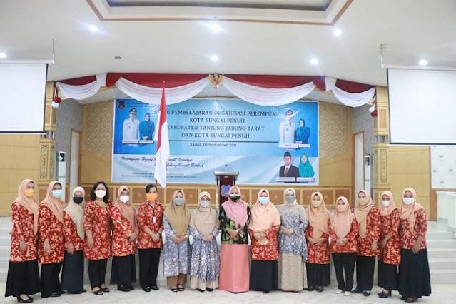 Ketua GOW Tanjabbar Sambut Kunjungan Studi Pembelajaran Organisasi Perempuan Sungai Penuh