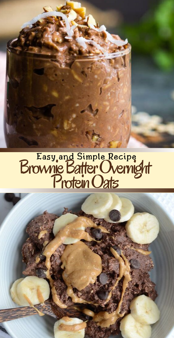 Brownie Batter Overnight Protein Oats #healthyfood #dietketo #breakfast #food