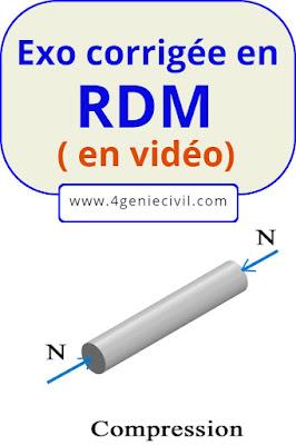 Exercice corrigée en RDM - Explication vidéo