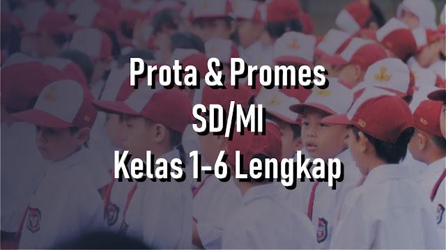 Prota dan Promes Kelas 1 Sampai 6 SD/MI Simpel dan Mudah Dikerjakan