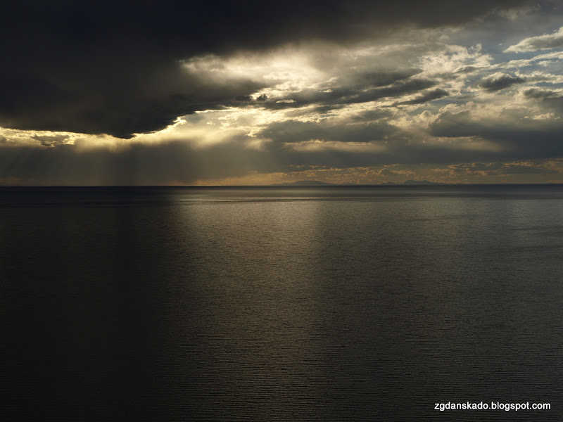Copacabana - zachód słońca