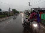 Hujan Deras, Ruas Jalan Lintas Batu Brak Tergenang Air