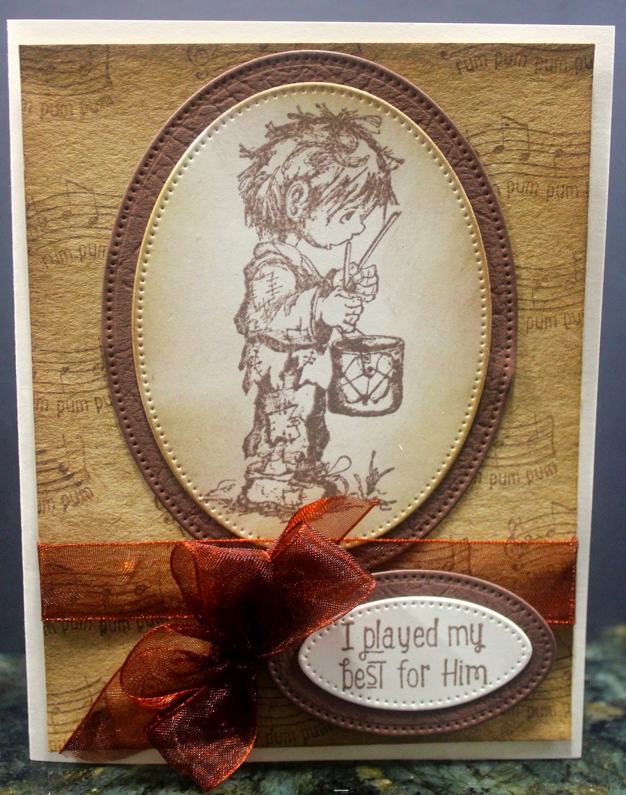 ODBD Little Drummer Boy, ODBD Customer Card of the Day by Rita Kegg