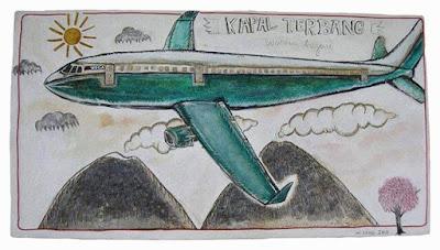 kapal-terbang-warna-hijau