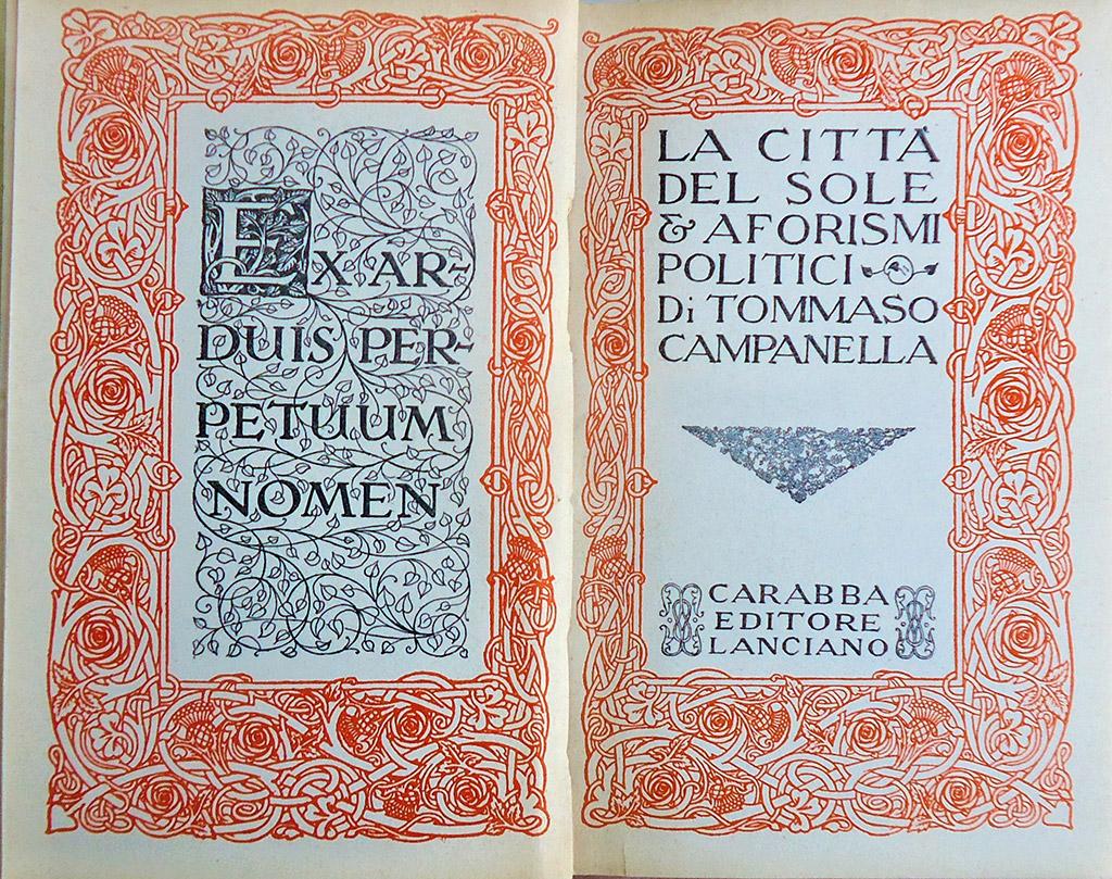 «Місто Сонця» Томмазо Кампанелли (La Città del Sole, Carabba, 1915)