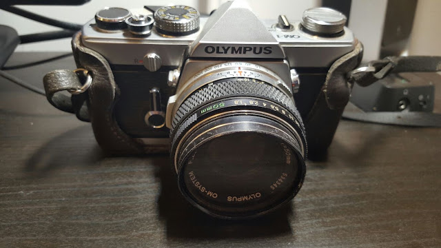 An image of an old olympus camera
