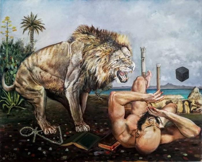 Тунисский художник-самоучка.