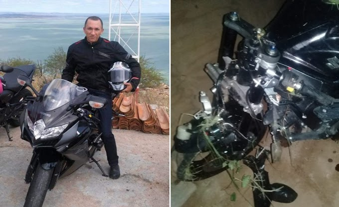 Caém: Funcionário dos Correios sofre acidente de moto na BA-131