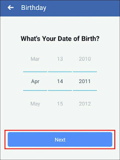 select date of birth