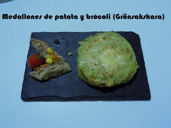 Medallones de patata y brócoli (Grönsakskara)