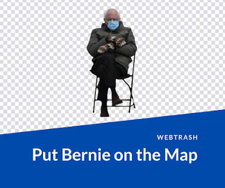 Put Bernie Anywhere | Bernie Sanders auf jedem Ort der Welt rumsitzen lassen