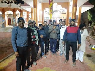 राम जन्मभूमि निधि संग्रह अभियान के निमित्त प्रभात फेरी का आयोजन