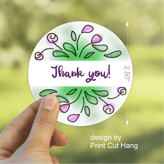 Free Doodle Flowers Labels