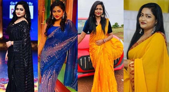 Pari Serial actress Monisha Samantray's most prettiest sareers looks