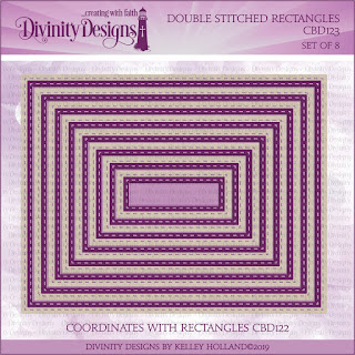 Divinity Designs LLC Double Stitched Rectangles Dies
