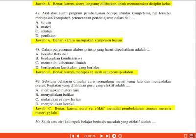 Download Bocoran Soal UKG  Bidang Pedagogik beserta Kunci Jawabannya lengkap