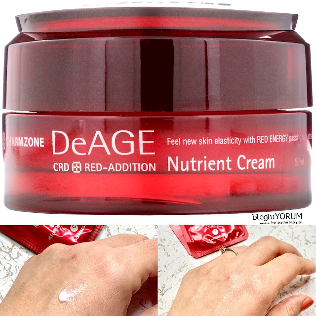 Charmzone De Age Red Addition Nutrient Cream kullananlar 1