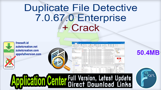 Duplicate File Detective 7.0.67.0 Enterprise + Crack