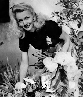 Carole Landis In The Garden