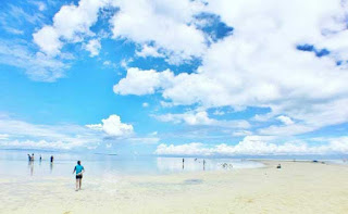 Best, peaceful, and Famous tourist spots  long sandbar white beach in virgin island panglao bohol philippines 2018