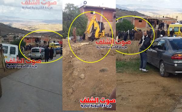 إنهيار التربة على عاملين داخل حفرة للصرف الصحي بعين مران