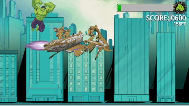 Incredible Hulk Chitauri Takedown Smashing Jumper Game