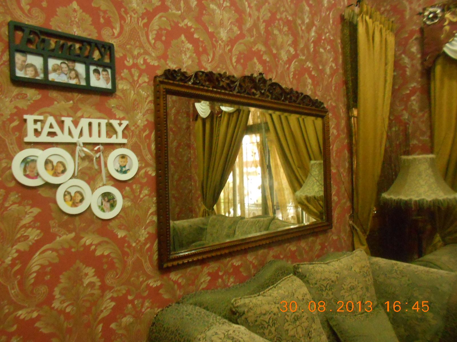 Repair Sofa Shah Alam Southern Motion Reclining Reviews Rumah 3 Tingkat Dengan Wallpaper Mewah Baiti Jannati Deco