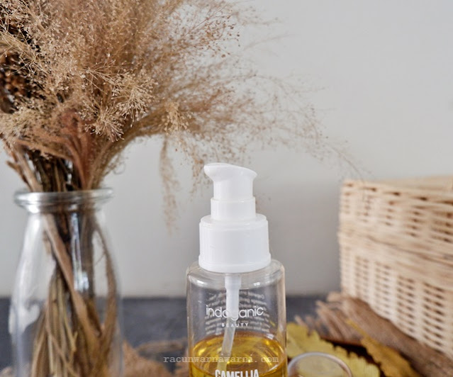 review camellia deep cleansing oil indoganic