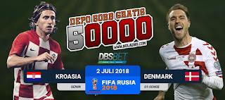 kroasia vs denmark piala dunia 1 juli 2018