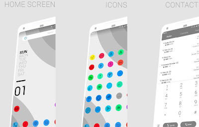 Download Huawei Themes : Android P Mono Grey Theme for EMUI 5 / 8