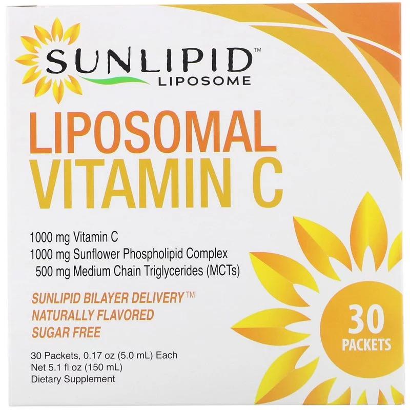 SunLipid, Липосомальный витамин C, с натуральными ароматизаторами, 30 пакетиков по 5,0 мл (0,17 унции)