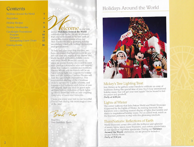 Epcot Holidays Around the World Guide Table of Contents 2004
