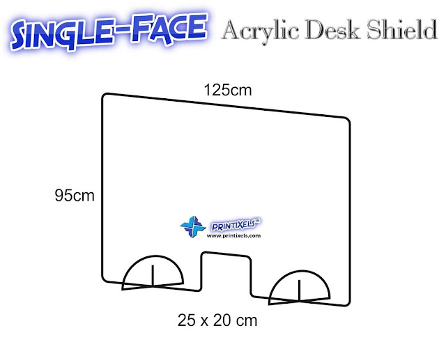 Single-Face Acrylic Desk Shield