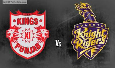 Kolkata Knight Riders (KKR) vs KXIP (Kings XI Punjab) IPL 2017 Match Prediction