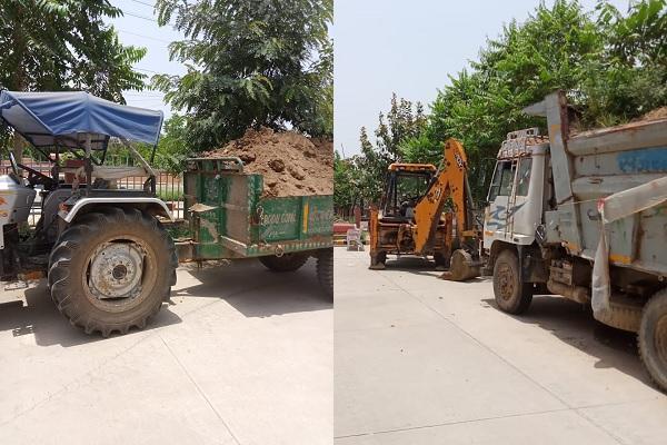 faridabad-news-illegal-mining-jcb-tractor-seized