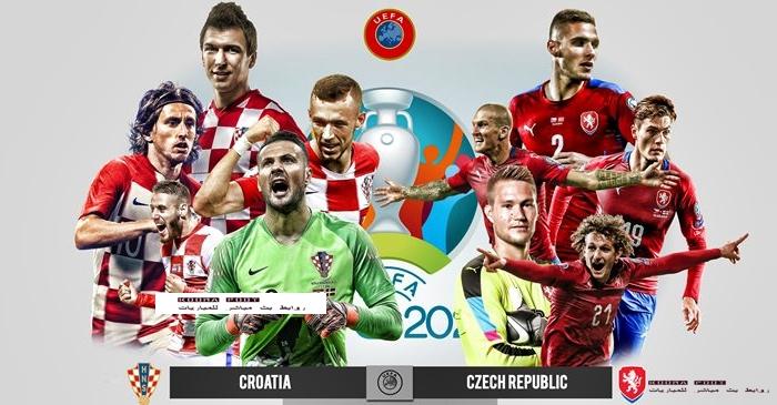 مباراة  كرواتيا والتشيك في بطولة يورو 2020