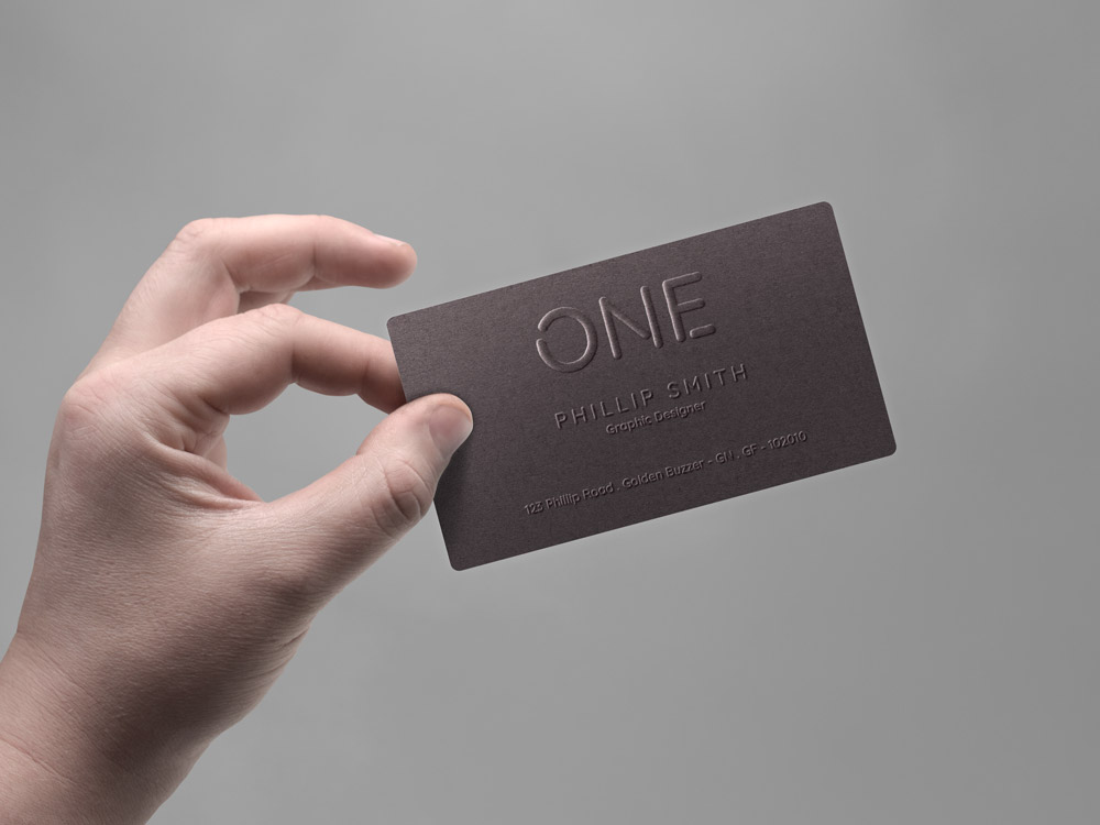 Clean and Professional free Business Card Mockup in Hand, Free Business Card Mockups