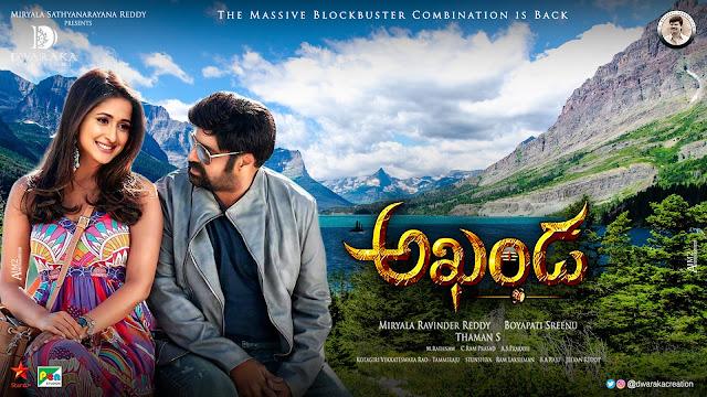 Balakrishna Pragya Jaiswal romantic akhanda movie posters _ 6