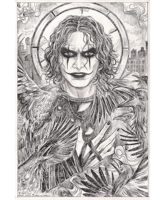 🇫🇷 Issu du du comics The Crow, créé par James O'Barr - représenté ici comme la version incarnée par Brandon Lee, dans le film de 1994... Assassinée avec sa fiancée, Eric Draven est ramené à la vie par un Corbeau. S'ensuit alors une quête de vengeance sur leur assassins.