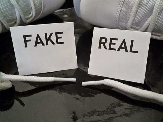 real vs fake shoes