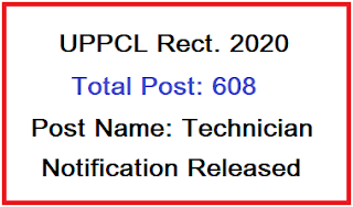 UPPCL Technician (Electrical) Recruitment 2020 | Online Form