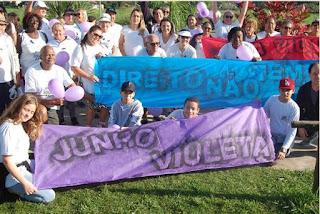 CCMI e Ilha Jovem realizaram caminhada solidária do junho violeta no combate à violência contra a pessoa idosa