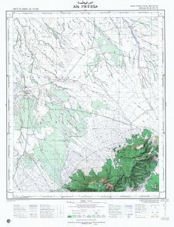 Ain Fritissa Morocco 50000 (50k) Topographic map free download