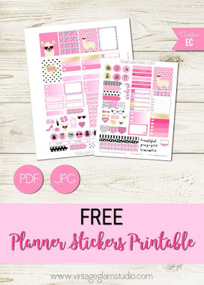 free llama planner stickers