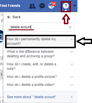 It hacks how to permanently delete facebook account 6 steps to in this information they will tell you how to delete facebook before deleting your account read these instructions carefully because once you delete your ccuart Choice Image