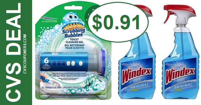 CVS Scrubbing Bubbles & Windex Deal 91-97