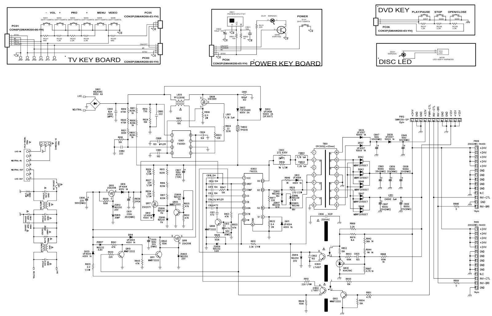 Schematic Diagrams  Lg  Tcl Lcd Tv Smps Schematics
