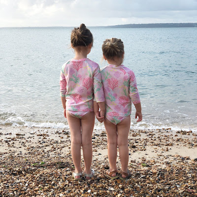 Swimwear made from recycled plastic bottles, sun smart technology and chlorine resistant