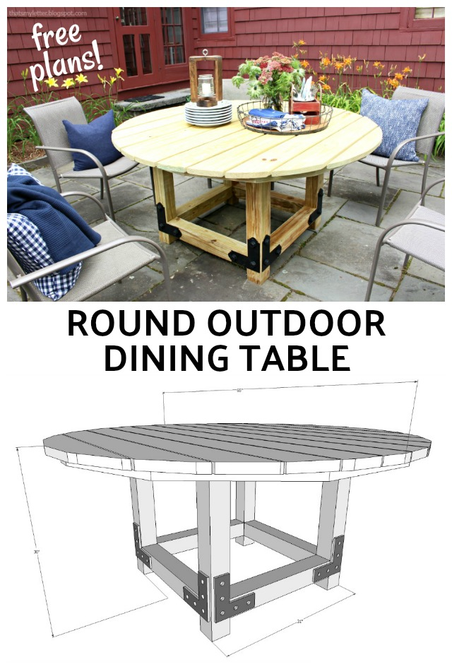 free plans round outdoor dining table